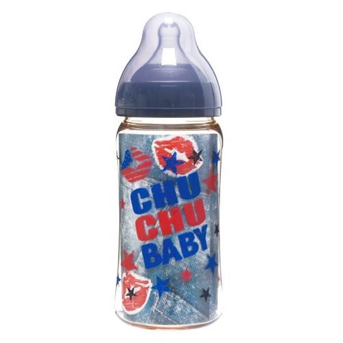 CHUCHU BABY Fedding Bottle PPSU Mama Cawa Wide Caliber Boys Type 240ml [C993713] - Botol Susu